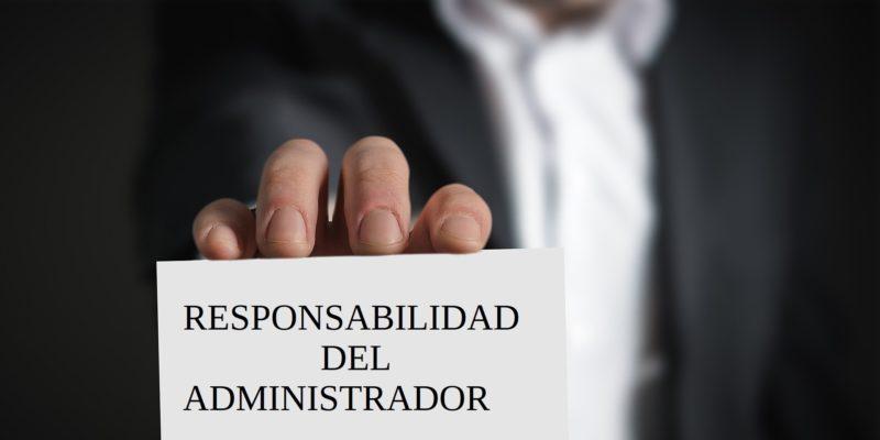 Responsabilidad del administrador